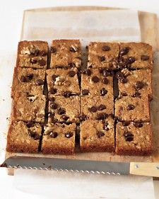 This unbeatable blondie recipe combines the buttery flavor and chocolate chips from everyone's favorite cookies with the appealing texture of the best brownies. For the neatest pieces, cool the blondie cake completely before slicing. Then, using a serrated knife, cut with a sawing motion.