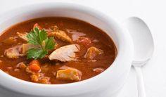Soupe-repas au poulet et aux légumes Excellente! Doublez la quantité de bouillon.