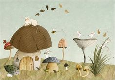 Canvas print 140 x 100 cm: Mouse Garden by Judith Loske - ready-to-hang wall picture, stretched on canvas frame, printed image on pure canvas fabric, canvas print Buy this and much more home & living products at http://www.woonio.co.uk/p/canvas-print-140-x-100-cm-mouse-garden-by-judith-loske-ready-to-hang-wall-picture-stretched-on-canvas-frame-printed-image-on-pure-canvas-fabric-canvas-print/