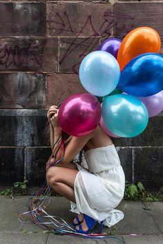 Coloured Balloons by Stefanie Thiele