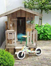 casita madera de juegos