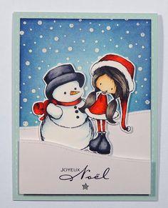 Scrap et Carte : carte Joyeux Noël !