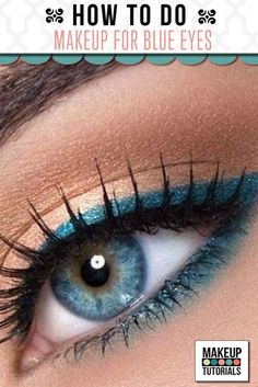 Blue eyes eye makeup tutorial, how to make blue eyes pop. | http://makeuptutorials.com/makeup-tutorials-how-to-do-eyemakeup-for-blue-eyes/