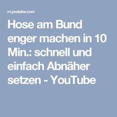 Hose am Bund enger machen in 10 Min.: schnell und einfach Abnäher setzen - YouTube