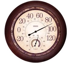 Camping  Weather Instrument - Pin It :-) Follow us :-)) zCamping.com is your Camping Product Gallery ;) CLICK IMAGE TWICE for Pricing and Info :) SEE A LARGER SELECTION of weather thermometer at http://zcamping.com/category/camping-categories/camping-survival-and-navigation/camping-weather-instruments/ -  camping gear, hunting,  camping essentials, camping, barometer - Springfield 91578 13 Inch Metal Outdoor Garden Clock with Hygrometer « zCamping.com