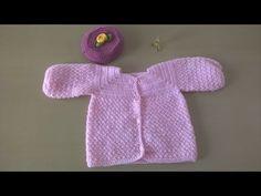 Como hacer una chaqueta de bebé en crochet o ganchillo - YouTube