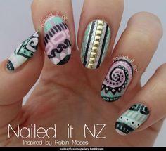 #awesome #aztec #abstract #nailart