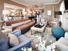 Eclectic | Living Rooms | Meg Caswell : Designer Portfolio : HGTV - Home & Garden Television