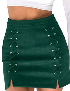 f5f9f87e5e83c online shopping for Prograce Women Sexy Criss Cross Tight Bodycon Faux  Suede Stretch Mini Skirt from top store. See new offer for Prograce Women  Sexy Criss ...