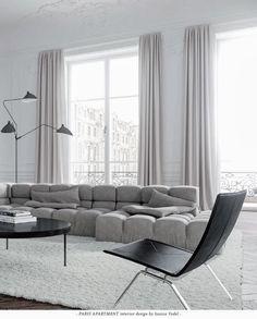 I mitt nästa liv ska jag varaen chic fransyska och bo i den här våningen i Paris. Love it! pics: Jessica Vedel v...
