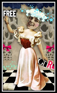Free Girl by bockel24, digital collage made with Crowabout StudioB kits Free Spirit Alpha (http://www.mischiefcircus.com/shop/product.php?productid=23710&cat=&page=), Free Spirit Elements (http://www.mischiefcircus.com/shop/product.php?productid=23709&cat=&page=), and Free Spirit Papers (http://www.mischiefcircus.com/shop/product.php?productid=23708&cat=&page=), all available at MischiefCircus.com