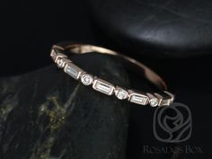 Tired of seeing the same styles of vintage bands?! This design is an edgy version of the classic baguette or round cut eternity band. Not only does is this design interesting, it can also timeless for its simplicity.This ring is made as a thin vintage styled wedding band or it can be work