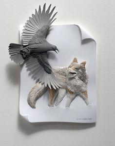 crossconnectmag: 3D Paper Sculptures byCalvin...