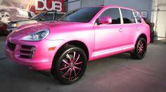 Mariah Carey's Custom Pink Porsche Cayenne <3