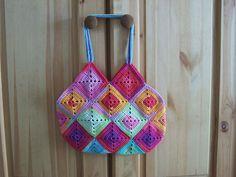 crochet bag -  by Wollknaeuel