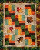 """Leaf Medley - PDF Quilt Pattern"". Available at www.pinkcastlefabrics.com."
