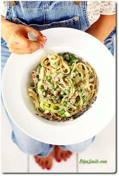 Pasta with cream - Pasta with zucchini - Pasta with zucchini and cream Cream Pasta, Zucchini Pasta, Noodles, Spaghetti, Food Porn, Food And Drink, Dinner, Ethnic Recipes, Diet