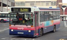 Photograph of Dennis Dart 40096 (registration number operated by First PMT Limited, Stoke-on-Trent, dated Saturday April 2004 First Bus, Stoke On Trent, Busses, Coaches, Volvo, Transportation, Photograph, Vehicles, Photography