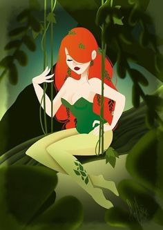 The Gotham City Sirens Dc Poison Ivy, Poison Ivy Dc Comics, Poison Ivy Batman, Pamela Isley, Frozen Costume Adult, Mickey Mouse Costume, Poison Ivy Costumes, Gotham Girls, Back In The 90s