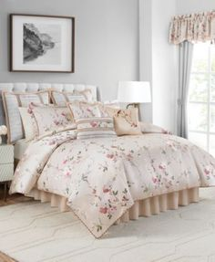 Bring a spring garden ambiance into your sleep space with the Blyth Comforter Set from Croscill. The bedding features a delicately colored floral motif on a soft champagne background that brings a sense of peace and serenity to your bedroom. Luxury Comforter Sets, Bed Comforter Sets, Comforters, King Bedding Sets, Bedspreads, Croscill Bedding, Home Decor Store, Cool Beds, Bed Styling