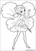 Dibujos de Barbie Pulgarcita para colorear en Colorear.net