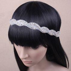 Vintage Style Crystal Wedding Headband Ivory by Lillianerose