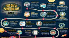 Your Digital Marketing Map | #IdeateLabs #DigitalMarketing #growthhacking #makeyourownlane #defstar5 #Webdesign #Analytics #emailmarketing #SMM #Blogging #Infographics #VideoMarketing #SEO #PPC #contentmarketing #marketing #tips