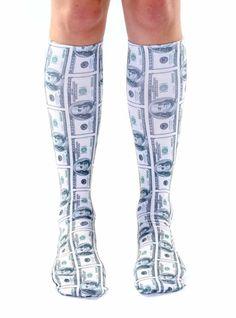 Money Knee High Socks