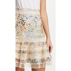 Zimmermann Lovelorn Flutter Skirt ($585) ❤ liked on Polyvore featuring skirts, blue floral, flared skirts, floral flare skirt, white flared skirt, white floral skirt and white eyelet skirt