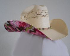 Pink Camo Bling Cowboy Hat $109.95  One of a kind by Sassy Cactus