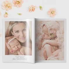 Photography Magazine Template | Newborn