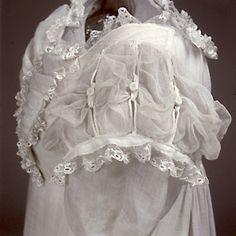 Sleeve detail of wedding dress 1822