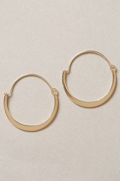 Anthropologie Crescent Moon Hoops on shopstyle.com
