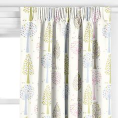 John Lewis Magic Trees Pencil Pleat Curtains, Multicoloured