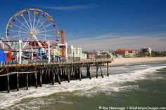 Santa Monica Pier in Los Angeles California. Such a fun trip Santa Monica, Oh The Places You'll Go, Places To Travel, Places To Visit, San Diego, San Francisco, Route 66, Dream Vacations, Vacation Spots