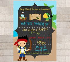 Jake and the Neverland Pirates Invitation  by myhappylifedesigns, $12.00