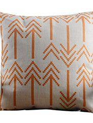 Orange Arrow Pattern Decorative Pillow Cover