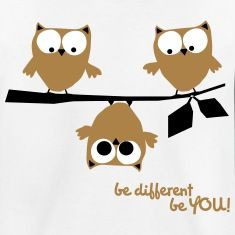 Eulen, lustig, be different, Vogel T-Shirts