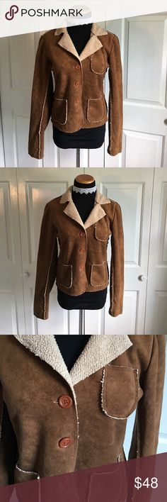 Velvet by Anthropologie Faux Suede Jacket Faux suede jacket by velvet from Anthropologie. Excellent condition. 100% polyester. Feels like real Suede. Size medium. Velvet Jackets & Coats