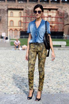 Militar is back! Trend Alert Street Style Looks Lili