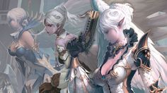 Lineage II Kamael Babes by kitolo.deviantart.com on @deviantART <<< why did it have to be named 'babes?' Please stop with this