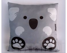12 x Pillow, Koala Bear Animal Pillow, Stuffed Animal, Room Decor, Kids Room… Grey Pillows, Animal Pillows, Animal Room, Bear Animal, Animal Decor, Koala Craft, Koala Nursery, Room Themes, My New Room