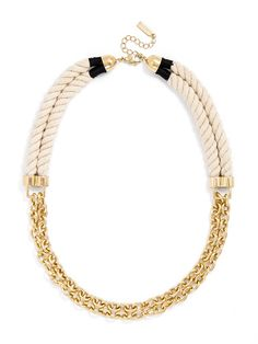 Mayflower Rope Links Necklace | BaubleBar