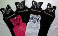 6 Bride Tank Top. Bridesmaid. Bachelorette Party. Maid of Honor. Team Bride. Wedding Bridal Party. on Etsy, $78.00
