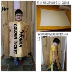 Grace's Favours - Craft Adventures - Willy Wonka Golden Ticket Dressing Up Costume Tutorial