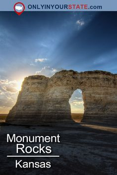 One Of The Most Unique Geological Wonders Is Located Right Here In Kansas - Travel interests Us Travel Destinations, Places To Travel, Places To See, Monument Rocks, Michigan Travel, Arizona Travel, Us National Parks, Road Trip Usa, Travel Images