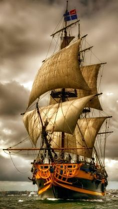 Other Night Sailing Ocean Moon Boat Hd Wallpapers Other for HD Bateau Pirate, Old Sailing Ships, Ship Paintings, Wooden Ship, Ship Art, Tall Ships, Water Crafts, Lighthouse, Photos