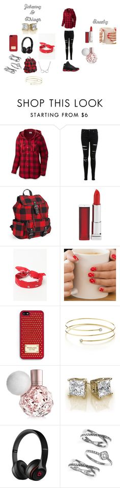 Friday Flyy by arie-boi on Polyvore featuring Columbia, Miss Selfridge, Aéropostale, Judith Jack, Elsa Peretti, LA: Hearts, MICHAEL Michael Kors, Beats by Dr. Dre, Maybelline and Retrò