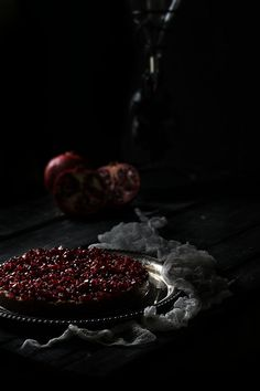 Oatgasm: Chocolate Pomegranate Tart // Winter Solstice