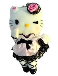 Hello Kitty Momoberry Pink Dress Plush